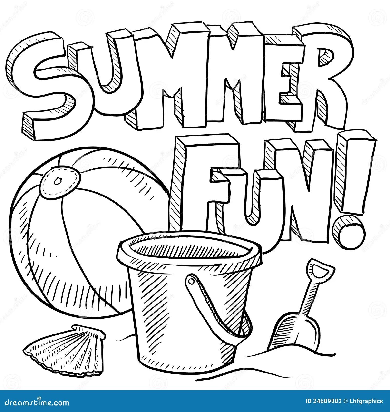 Summer Fun At The Beach Vector Stock Vector