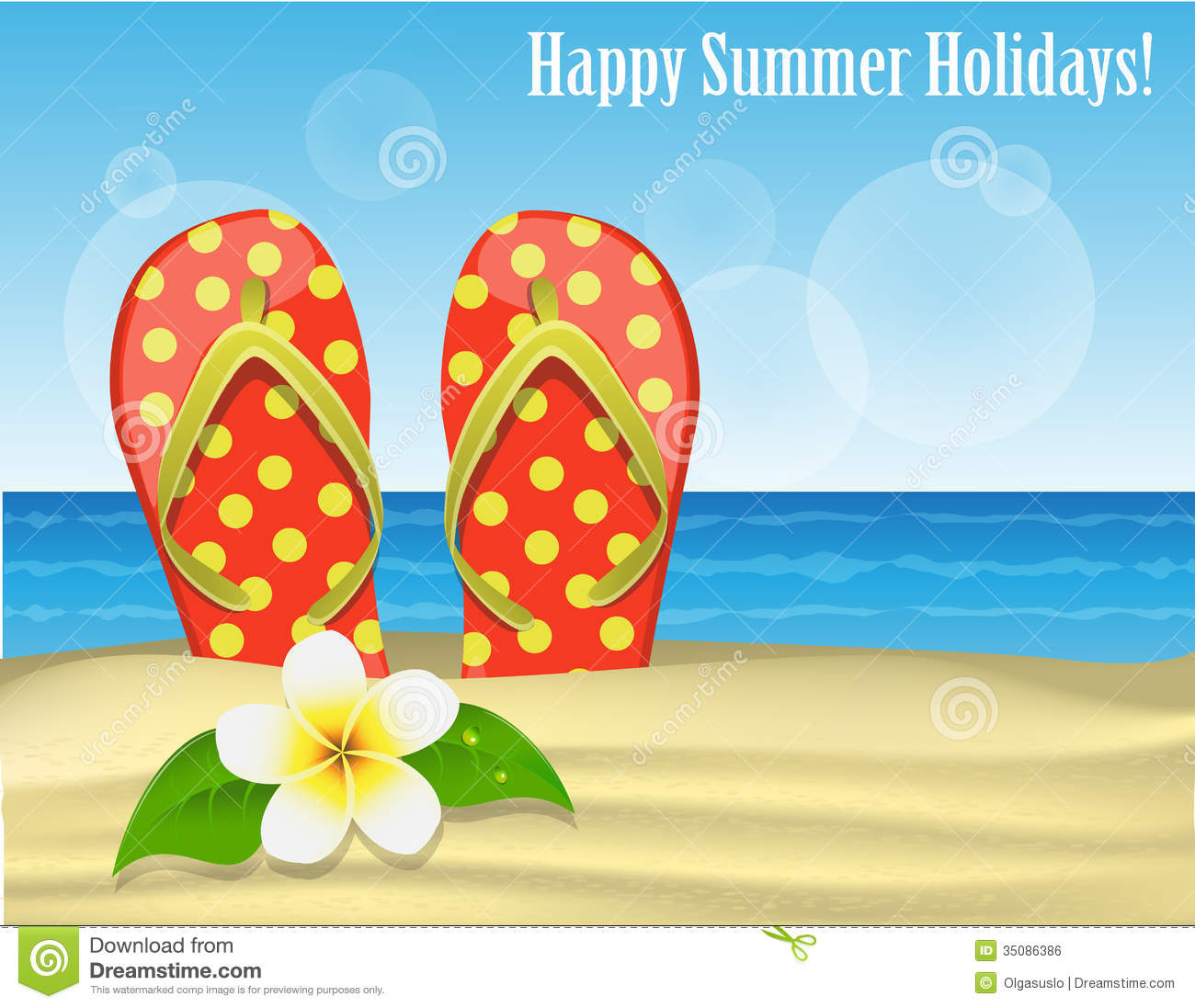 Summer Holidays Royalty Free Stock Image Image 35086386
