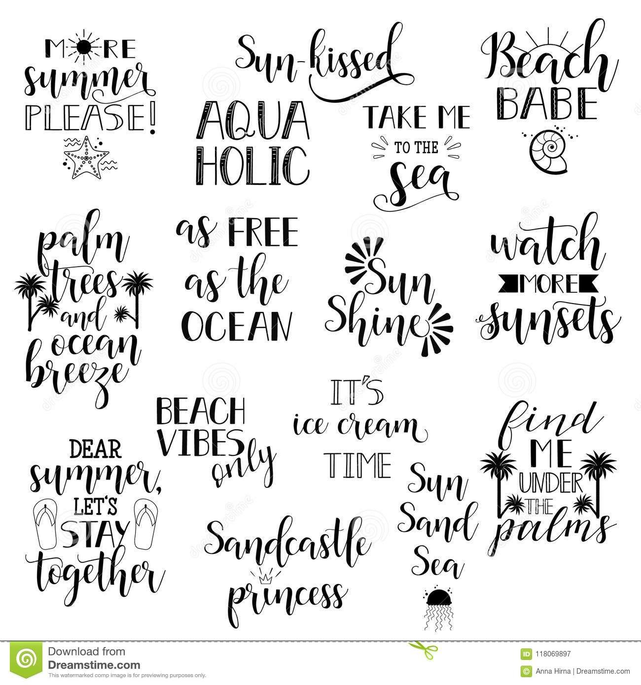Summer Holidays And Vacation Quotes Phrases And Words