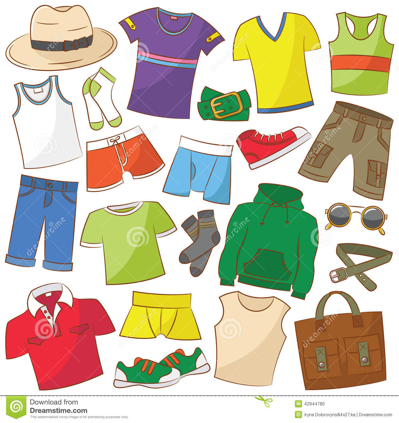 Summer Menswear And Accessories Stock Vector