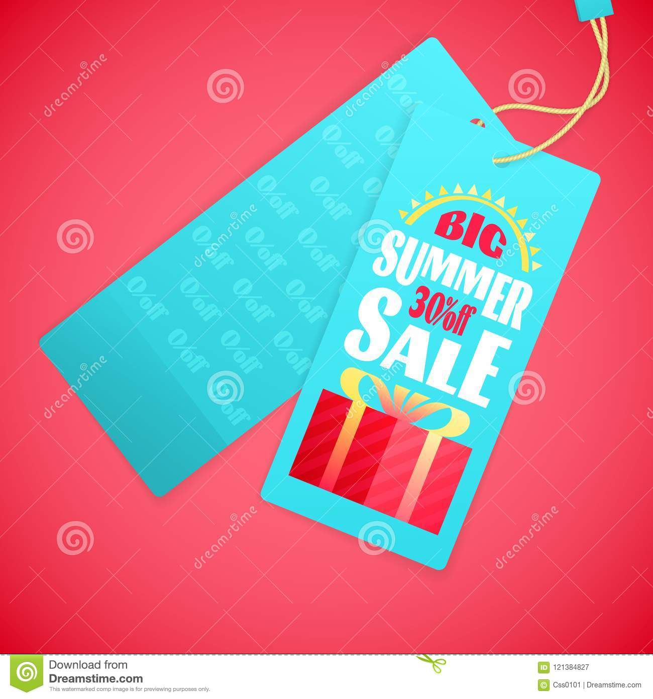 Download Summer Sale Letters Design Template, Sun, Gift Box Stock Vector -  Illustration Of