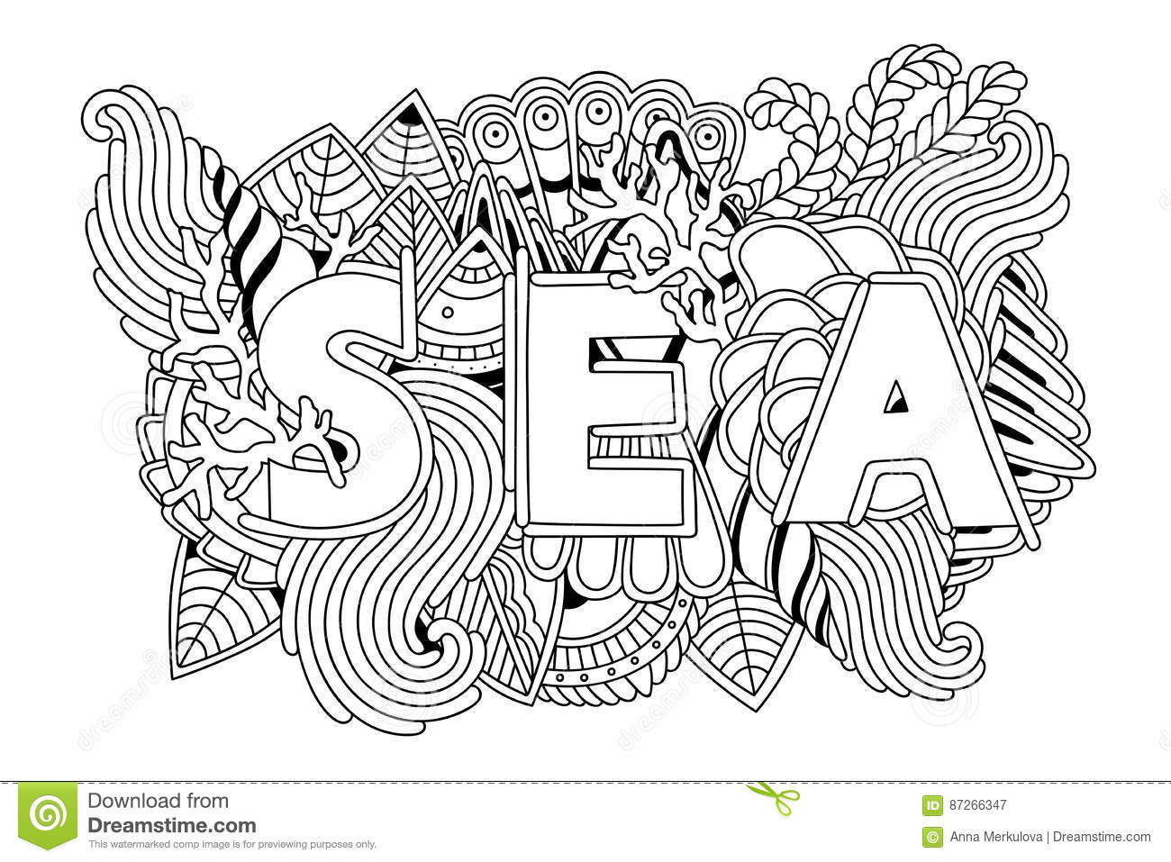 Summer Sea Shells, Waves, Corals And Seaweeds Banner