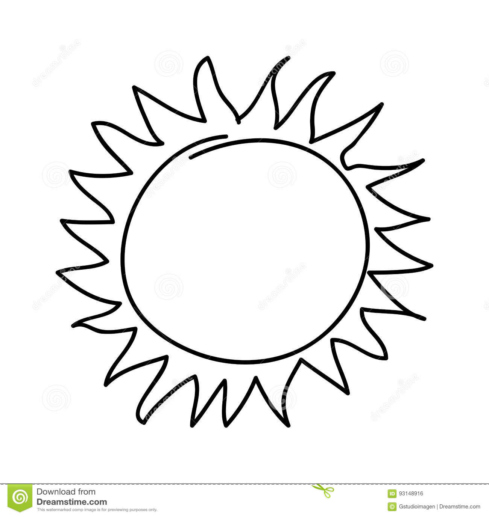 Summer Sun Drawing Cartoon Vector