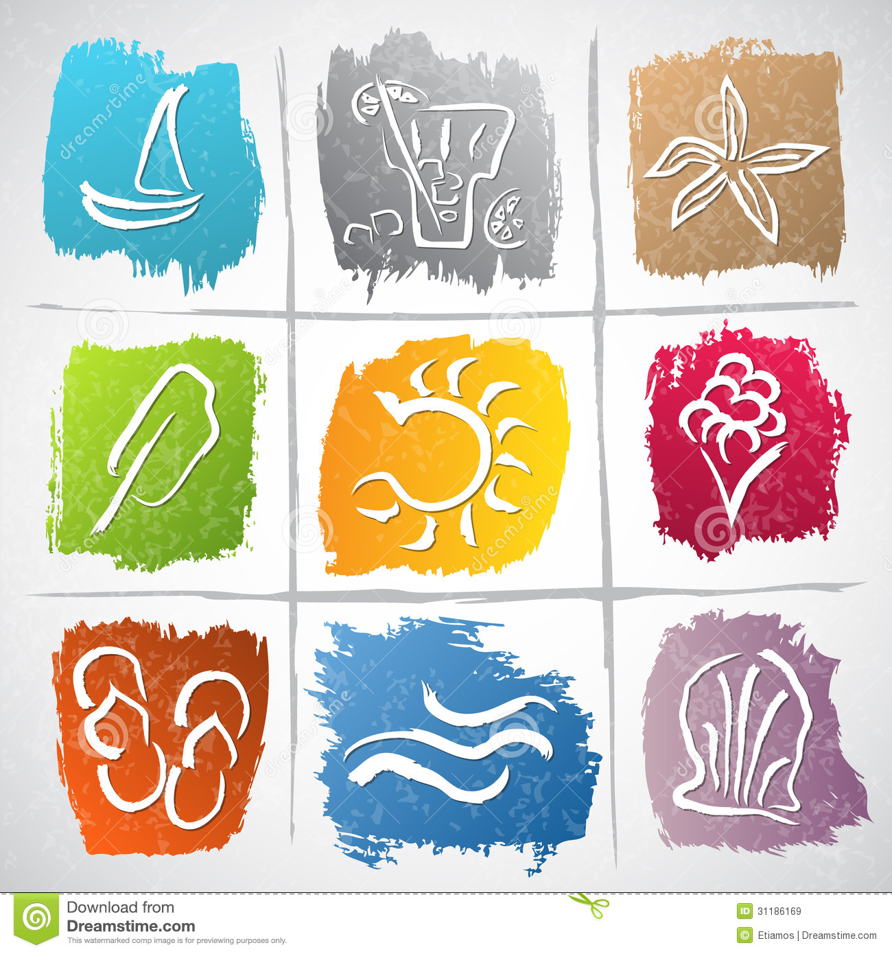 Summer Symbols Royalty Free Stock Images