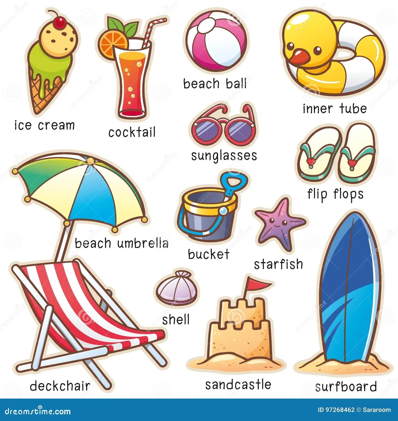 Summer Vacation Stock Vector Illustration Of Tube