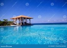 Summerhouse With Swimming Pool Atlantic Ocean Stock