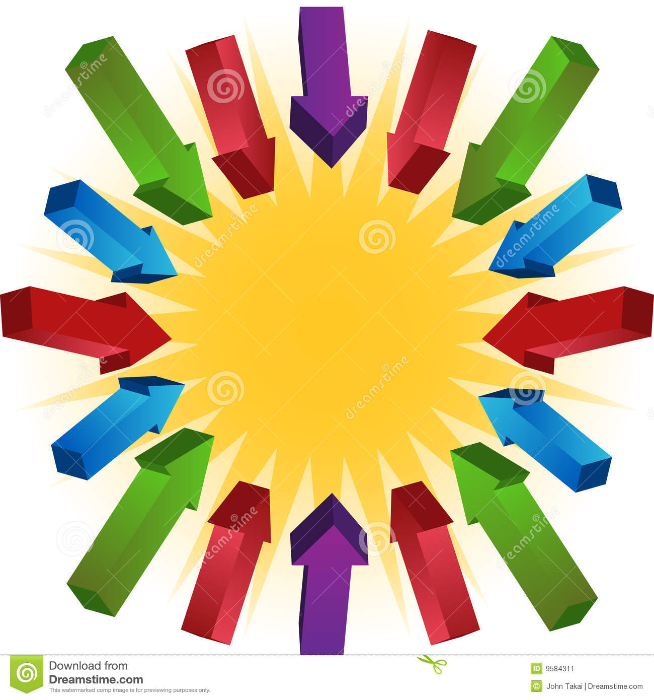Sun With Arrows Stock Vector Illustration Of Decoration