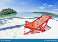 Sun Beach Chair At The Beach Stock Photos