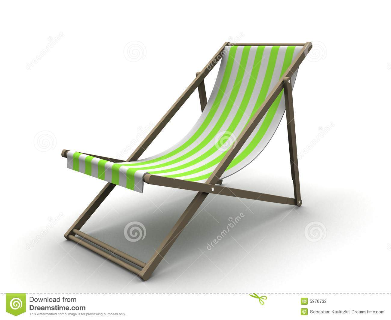 Sun Chair Sun Chair Stock Illustration Image Of Tropic Furniture