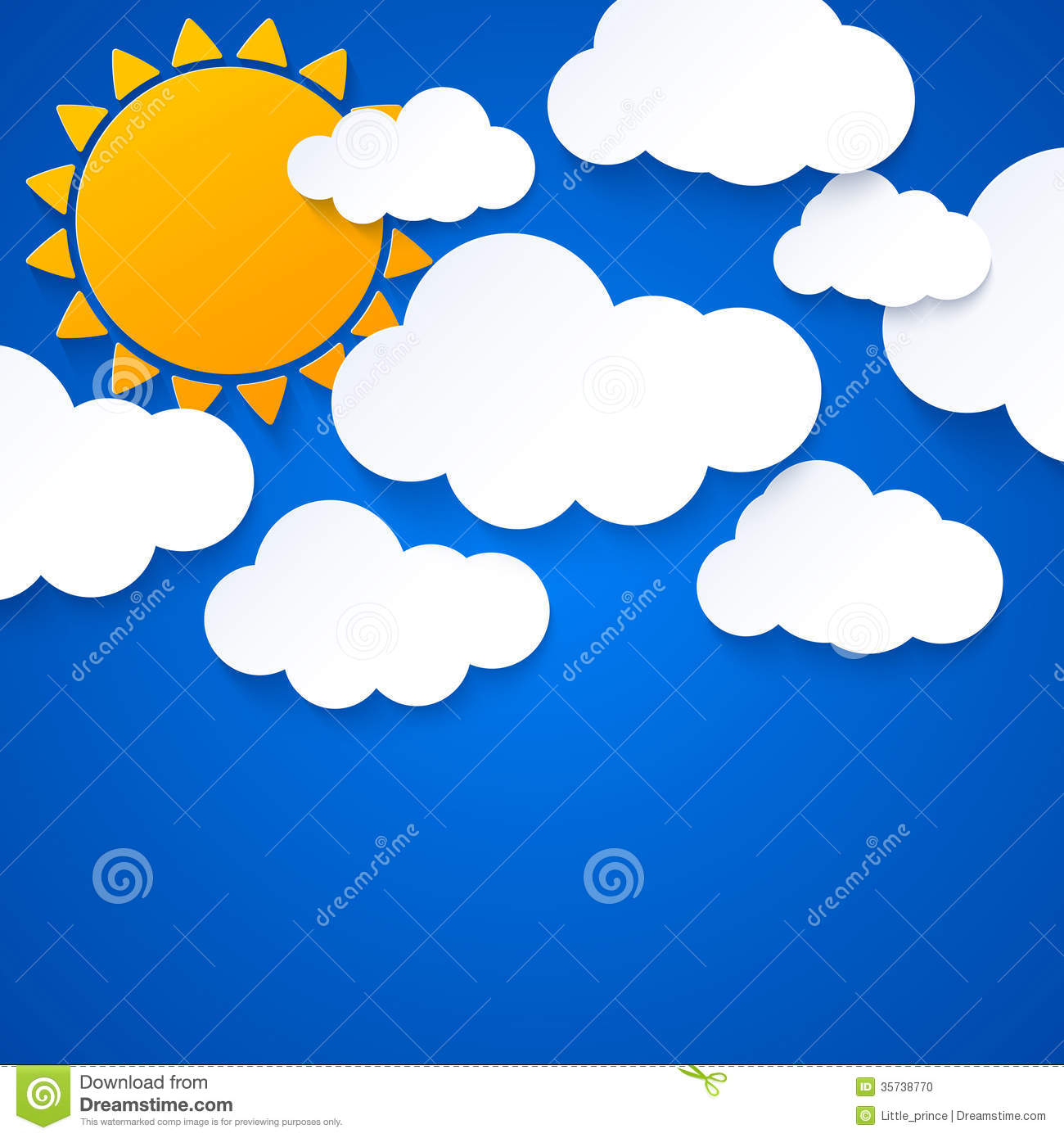 hight resolution of sun and clouds on blue sky background