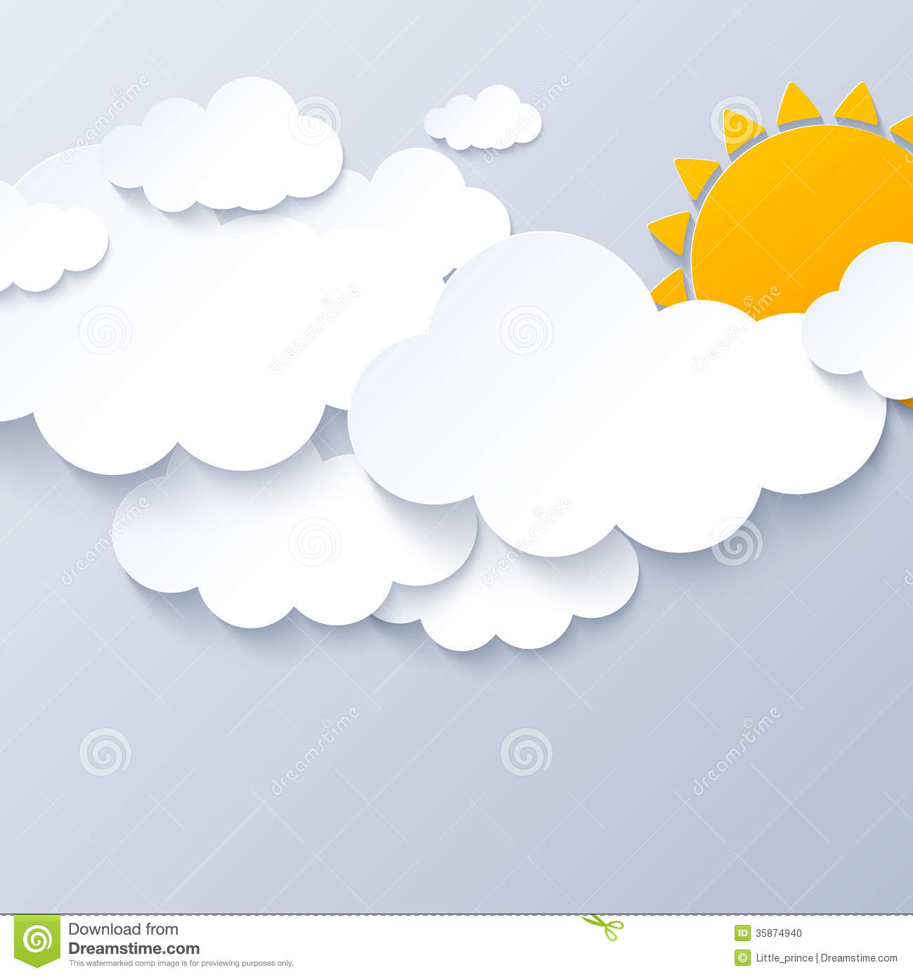 hight resolution of sun and clouds on gray sky background