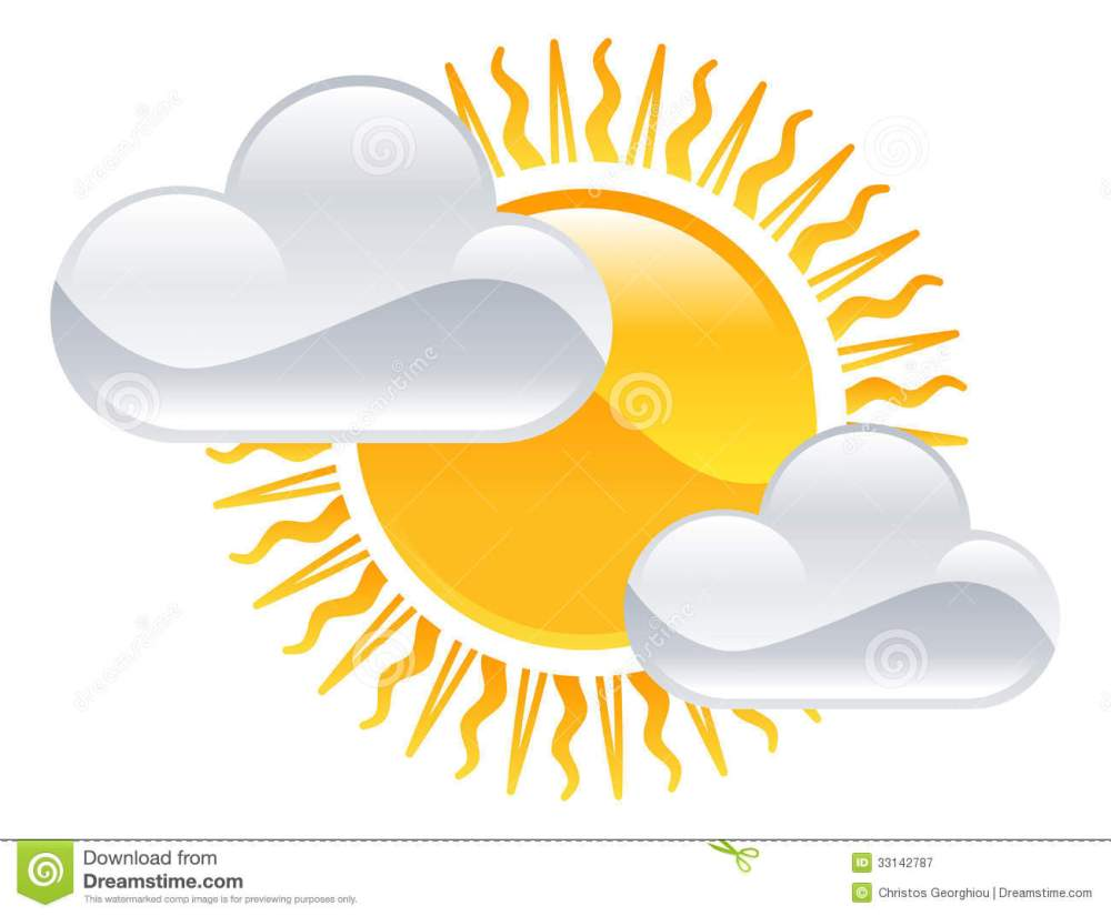 medium resolution of sun and clouds icon