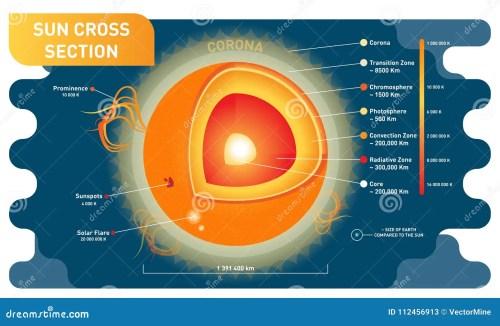 small resolution of sun cross section scientific vector illustration diagram with sun sun cross section scientific vector illustration diagram