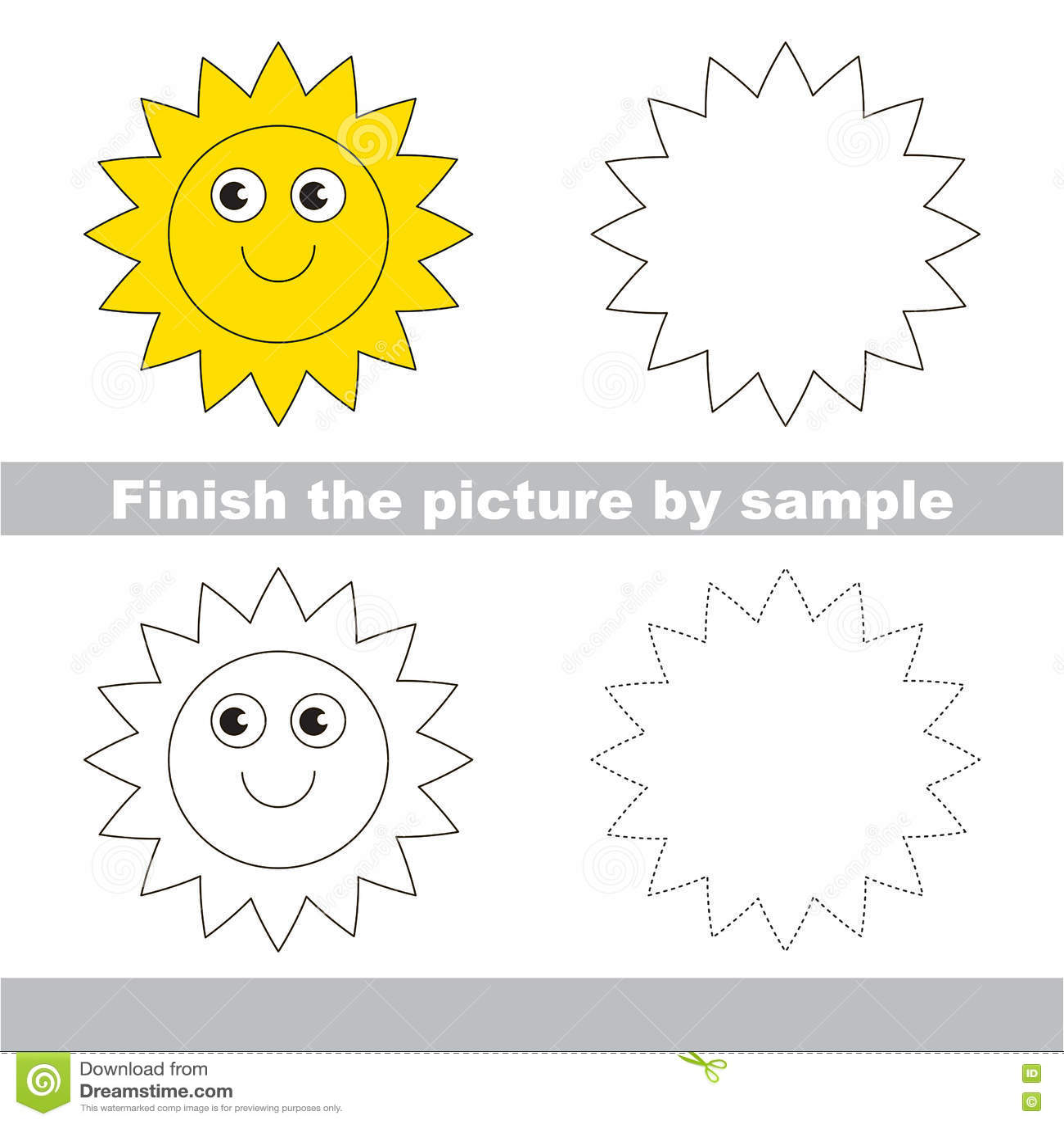 Sun Drawing Worksheet Stock Illustrations 146 Sun