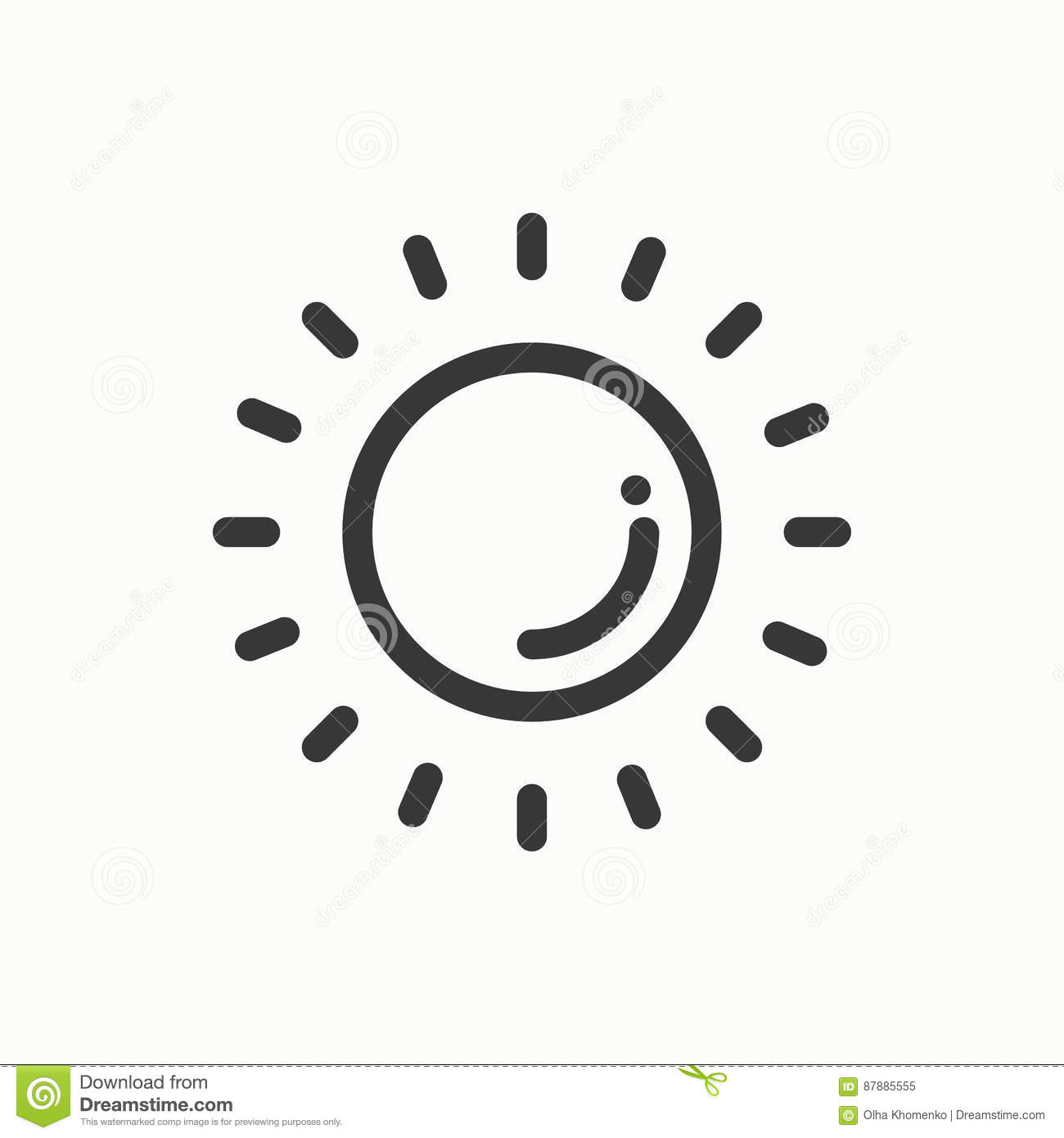 Sun Line Simple Icon. Weather Symbols. Meteorology