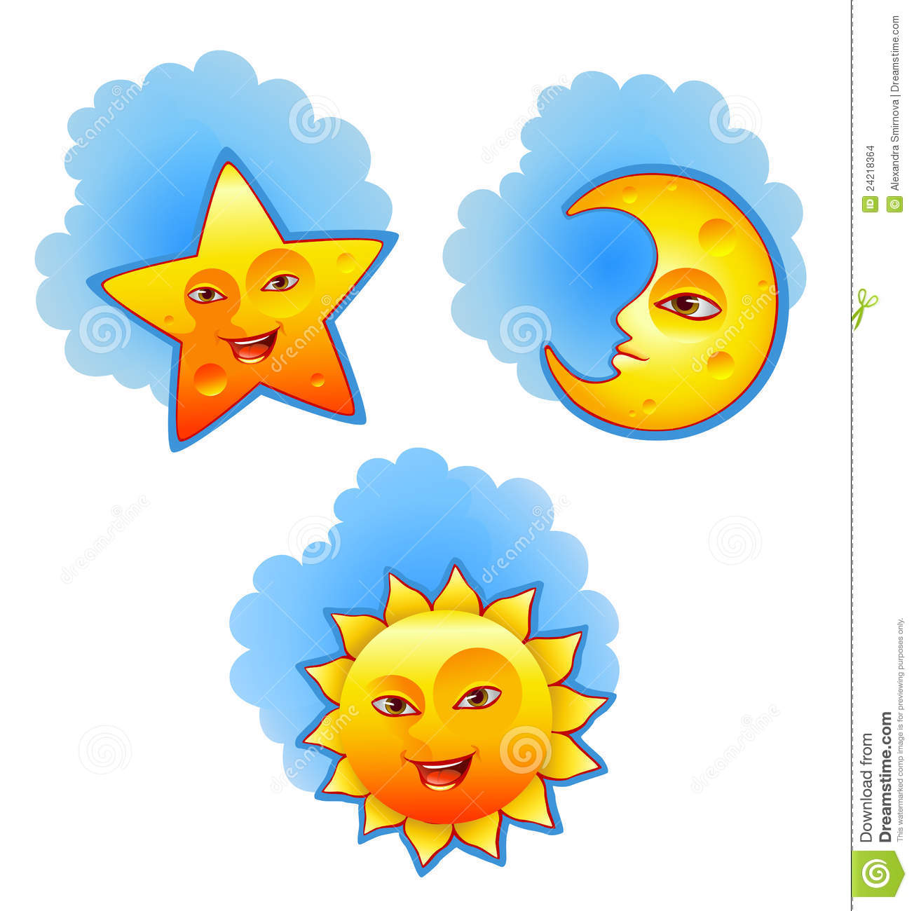Sun Moon And Star Stock Vector Illustration Of Icon