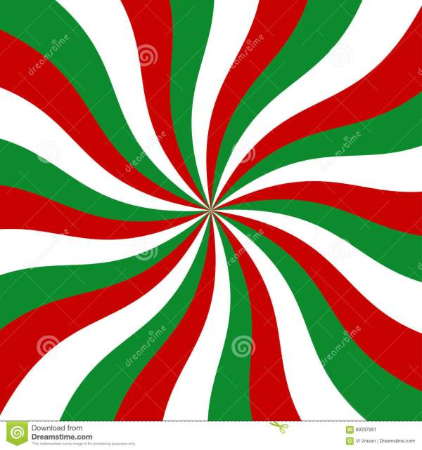 Sunburst Red Green And White Vector Background Stock