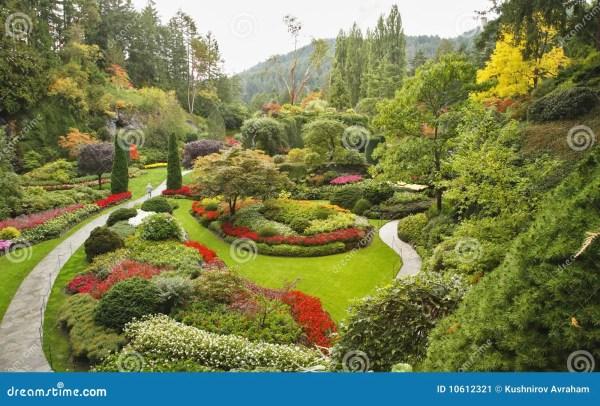 Sunken-garden Island Vancouver Stock