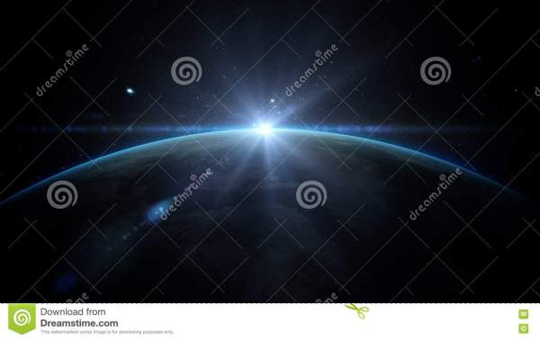 Sunrise Over Earth as Seen From Space