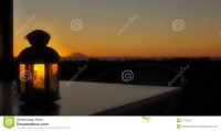 Sunset And Lamp Stock Images - Image: 2776504
