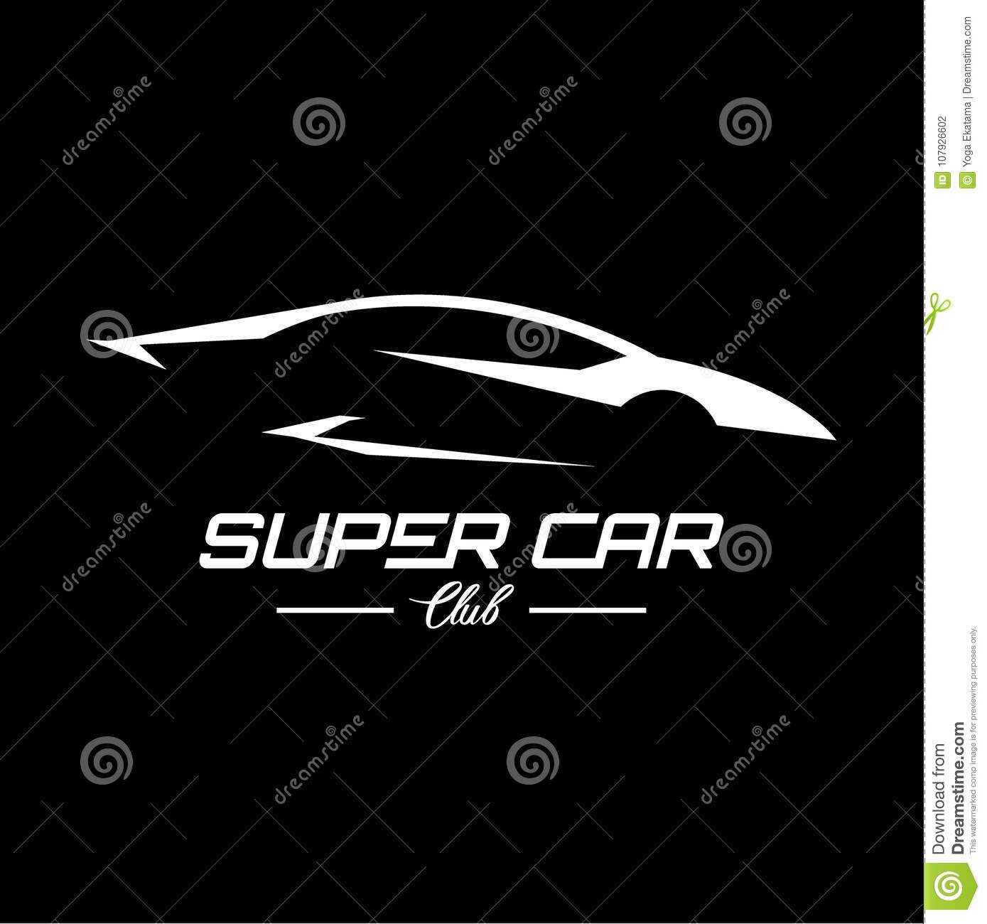 super car club logo