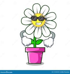 super cool daisy flower character cartoon [ 1300 x 1390 Pixel ]