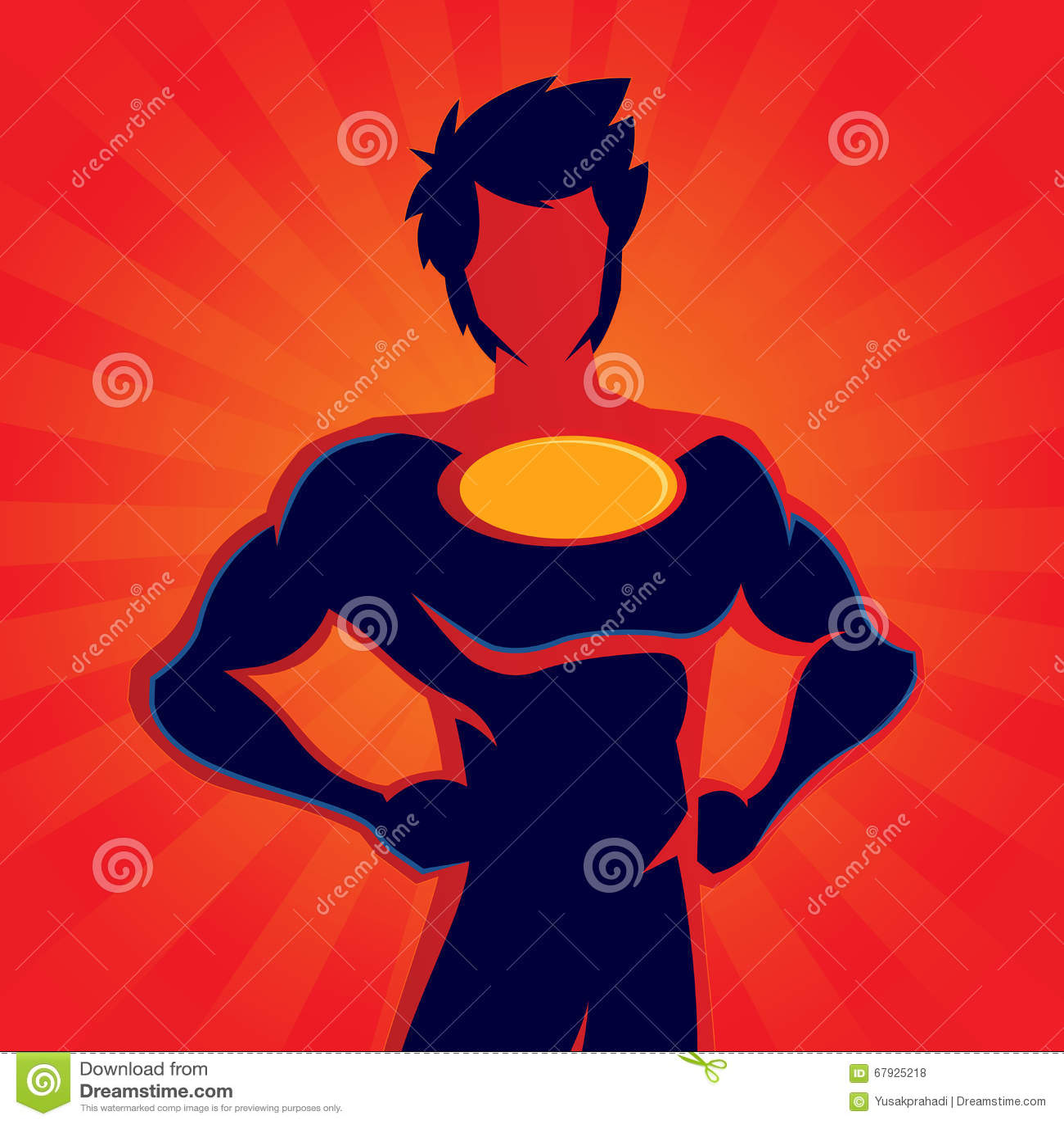 super hero woman muscles silhouette skyscrapers stock vector