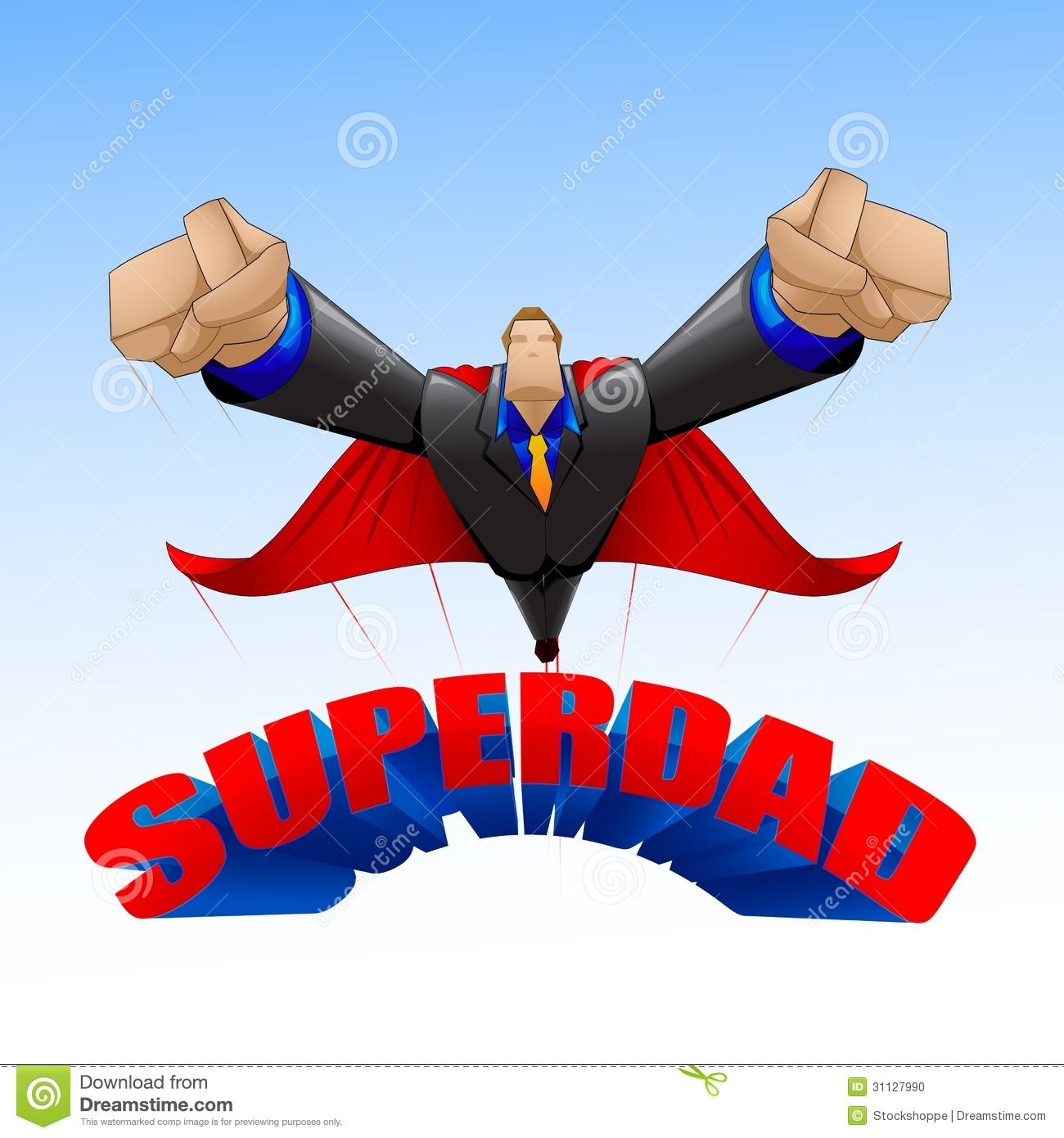 Superdad Stock Photo Image 31127990