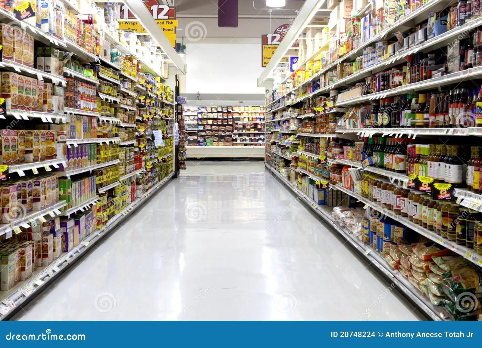 supermarket editorial stock image