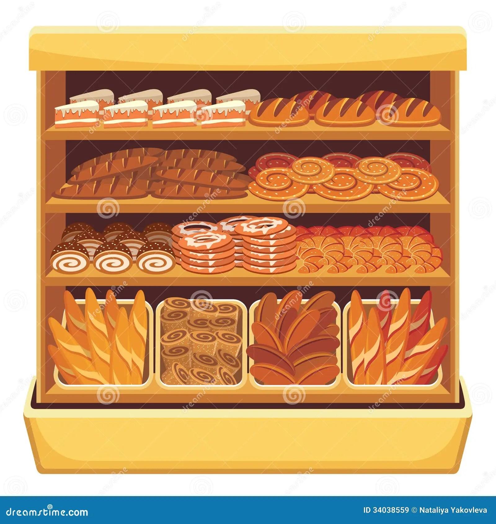 Supermarket Bread Showcase Royalty Free Stock Images