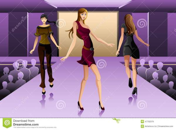 Clip Art Fashion Show Runway Models