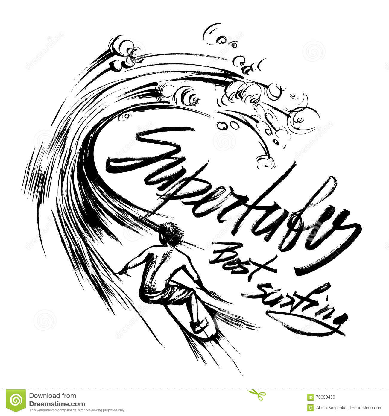 Handdrawn Brush Lettering Cartoon Vector