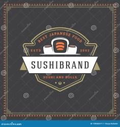 vector sushi restaurant element culture