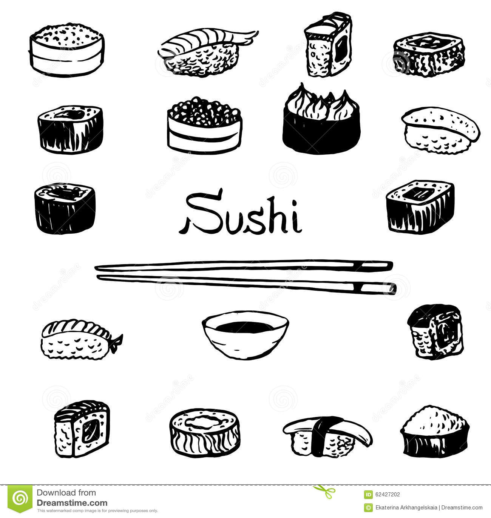 Sushi Set Stock Vector
