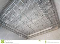 Suspended Ceiling Structure. Stock Photo - Image of house ...