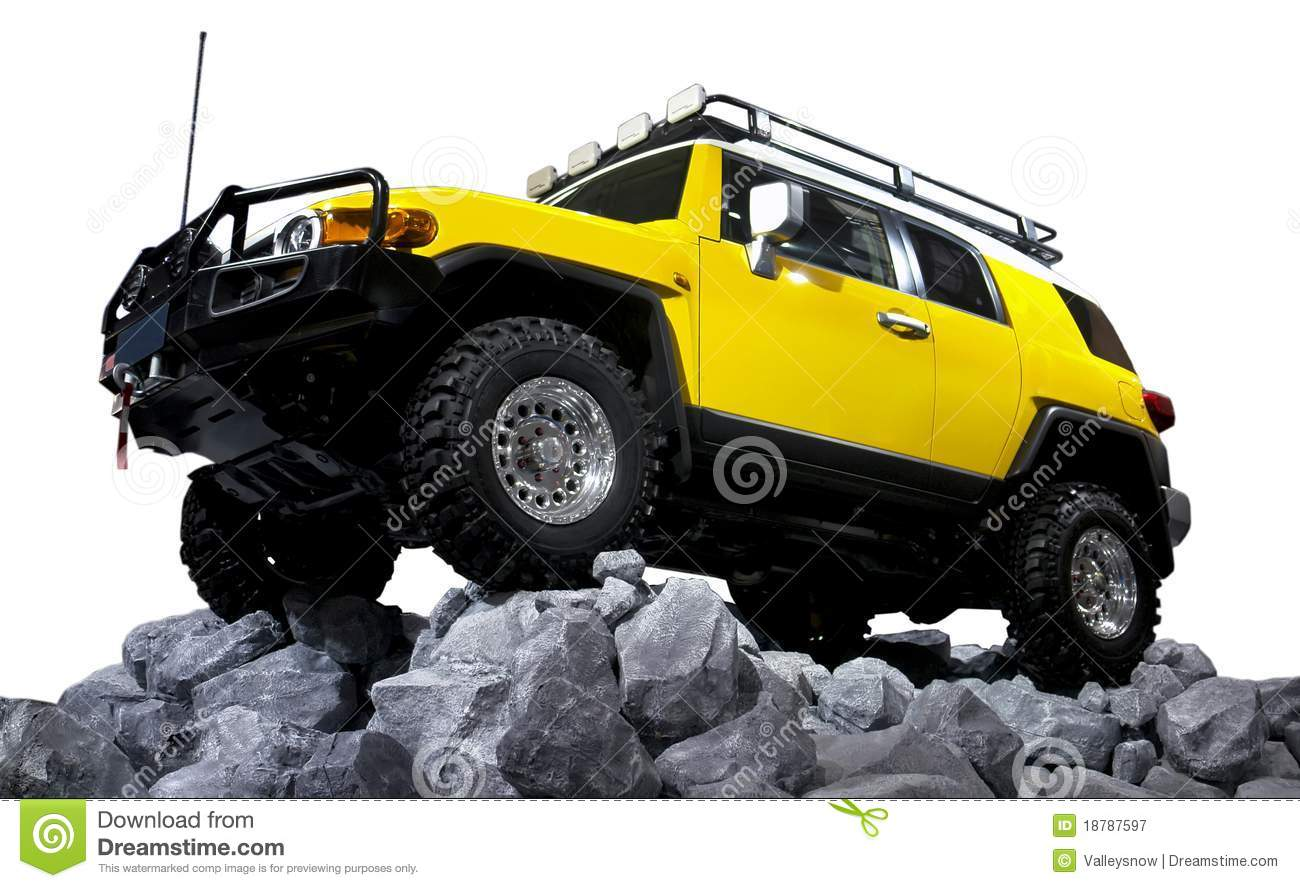 Suv Off Road Isolated Stock Image Image Of Industrial