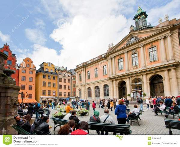 Swedish Academy And Nobel Museum In Stockholm Editorial