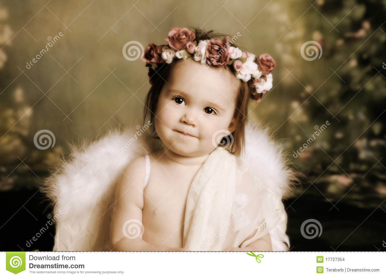 Cute Baby Girl Child Wallpaper Sweet Baby Angel Stock Photo Image Of Aroma Artificial