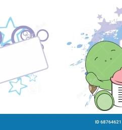 sweet baby turtle cartoon set [ 1300 x 606 Pixel ]