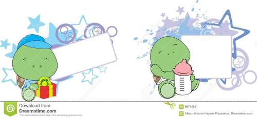 small resolution of sweet baby turtle cartoon set