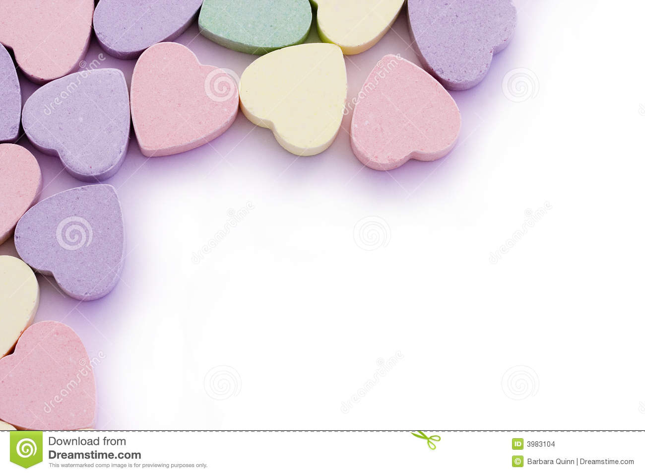 Sweet Hearts Edging Border Stock Photo Image Of Sweets