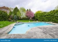 Swimming Pool In Backyard Stock Photos