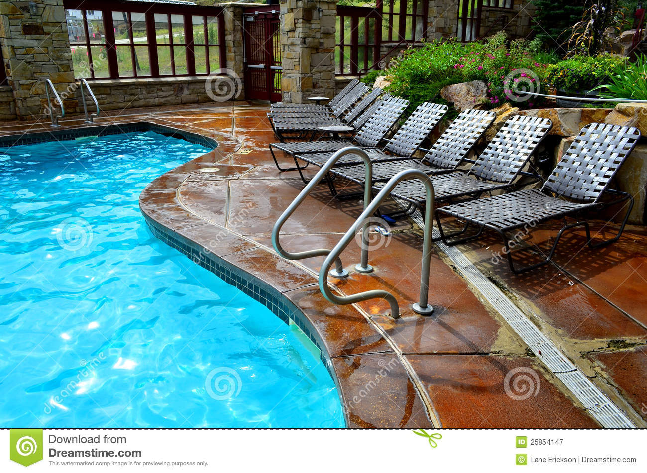 Pool Deck Chairs Swimming Pool And Deck Chairs Stock Image Image 25854147