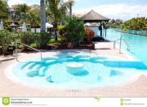 Luxury Swimming Pool at Hotel with Jacuzzi
