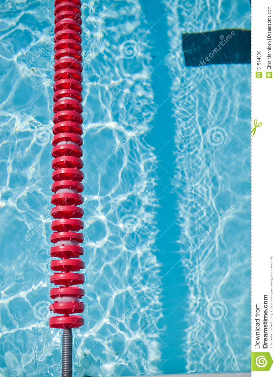 Swimming Pool And Lane Rope Royalty Free Stock Images