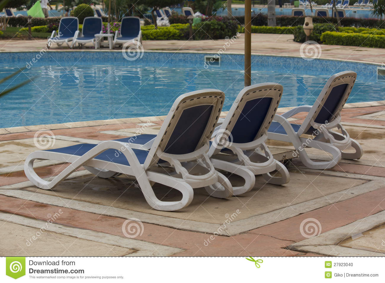 Pool Lounge Chair Swimming Pool Lounge Chairs Stock Photo Image Of Grand Concept