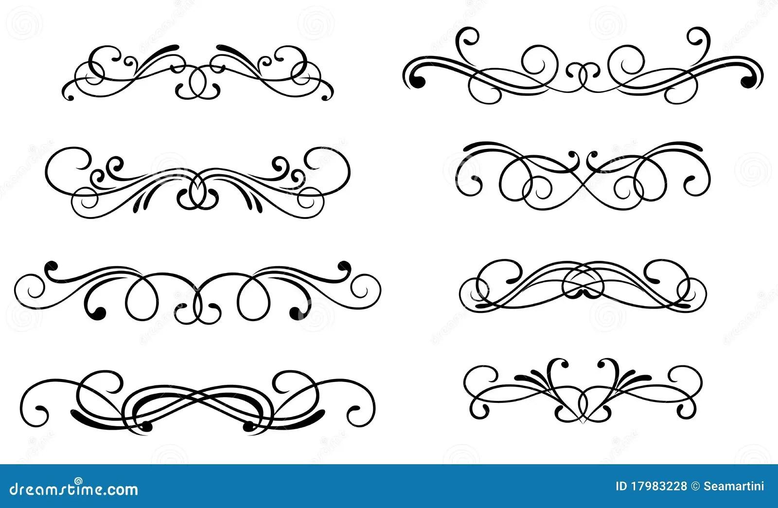 Swirl Elements Stock Vector Illustration Of Cartouche