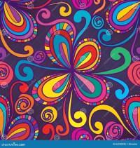 Swirl Flower Stylish Swirl Seamless Pattern Stock Vector ...