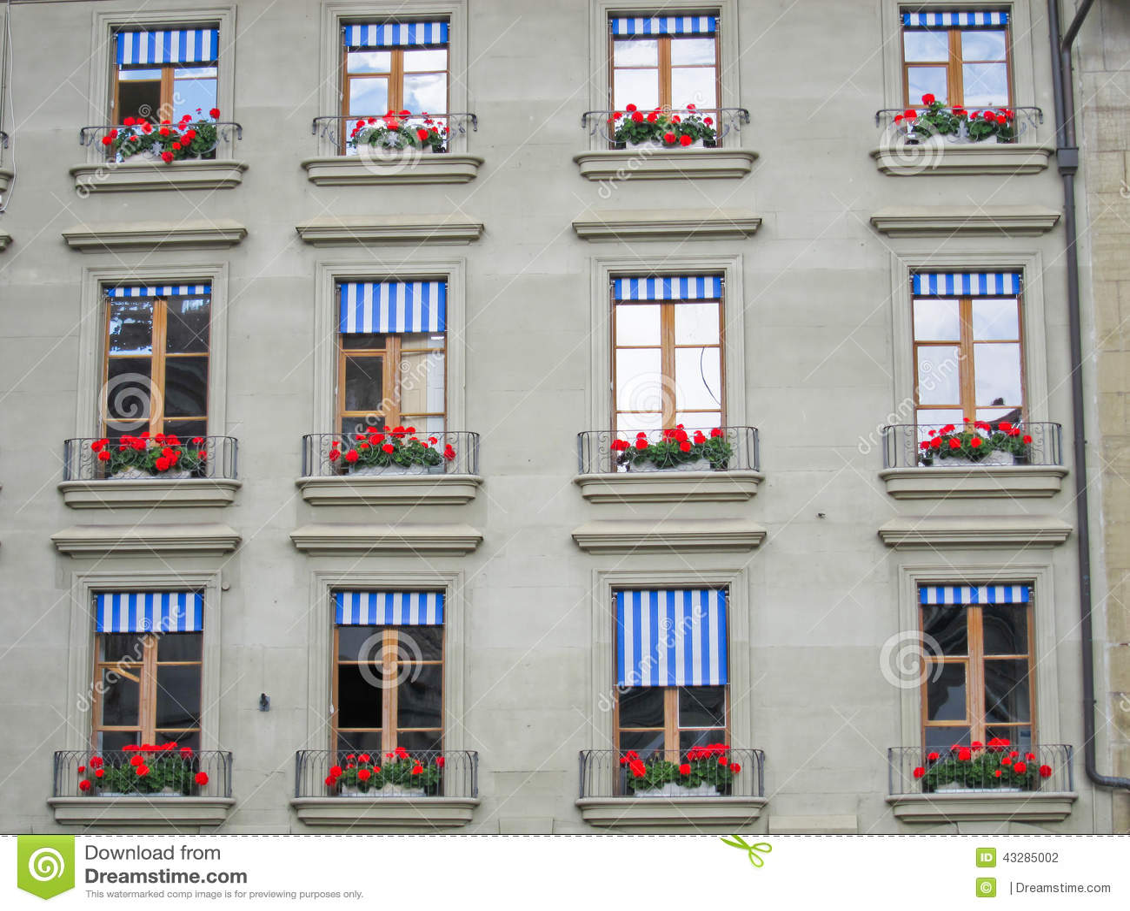 Swiss Windows stock photo. Image of blue, symmetry