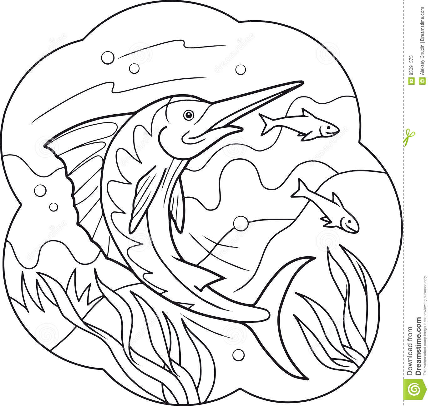 Swordfish Coloring Pages